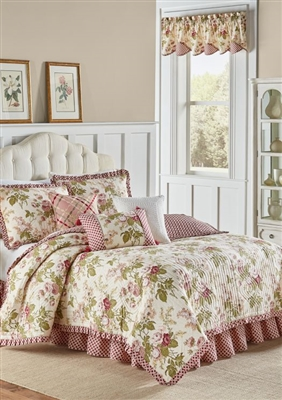 Inspired by the hillside flowerscapes of a Jane Austen classic, Emma's Garden features bouquets of lilacs and cabbage roses, embodying a classic English style. The delicate color palette of pinks and mossy greens create a whimsical and romantic aesthetic.