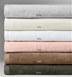 Take comfort in the luxurious feel of Canedo towels: its subtle diamond-weave velour is backed with absorbent terrycloth to swaddle you in style—morning, noon, or night.