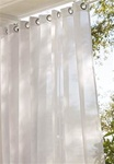 Sheer curtains provide privacy and allow you protection from the sun without blocking the view. Our Outdoor Sheer Panels have 8 silver stainless steel plated grommets that will slide effortlessly on a decorative curtain rod.