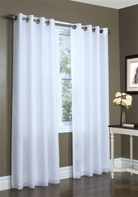 Lined Sheer Panel- This grommet top panel features an attached semi sheer curtain liner. They can be used in combination with drapes as part of a comprehensive window treatment or individually as an alternative to traditional sheer curtain panels.