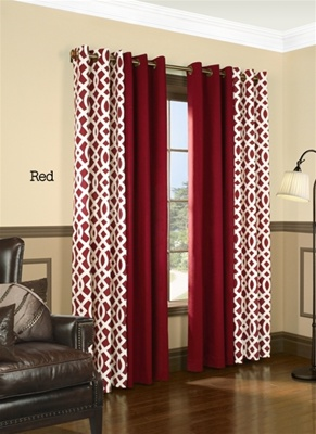 Add a stylish look to any room with these trellis print curtains. At the same time you will save money on heating and cooling costs with these Insulated Curtains. In the winter, keep out drafts. In the summer, keep out heat. Helps to filter out light and