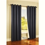 Add a luxurious formal look to your room with these tone on tone woven jacquard insulated blackout curtains.