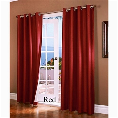 Horizon Faux Silk Insulated Curtain Panels - Add a luxurious formal look to your room with these faux silk insulated curtains.