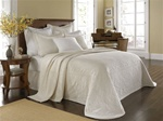 King Charles, Timeless elegance this classic design from the Historic Charleston Collection will allow you to create a beautiful room without sacrificing easy care.  Woven of 100% heavyweight cotton, this matelasse bedspread has a diamond quilted center
