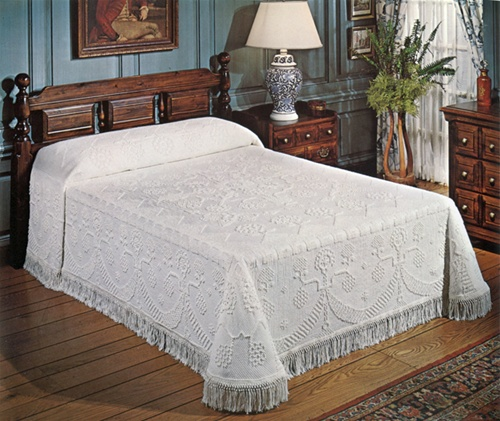 Colonial Bedspread Made In USA George Washington Bates