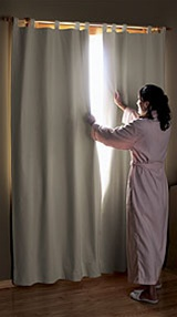 Blackout Curtains - Block out all light with Blackout curtains so you can sleep. Ideal for midday naps, late sleepers, or those who sleep during the day. They block out all sunlight or city lights, Keep out heat in summer and cold in winter