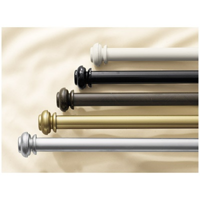 "Bold Pole- Fully adjustable 1 1/4"" expandable metal rod sets in five decorative finishes to compliment any decor. These rods are available in lengths up to 144"" and the unique design allows you to combine additional rods for wider spaces."