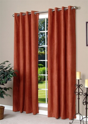 Media grommet top soft draping blackout curtains save for Block out noise windows