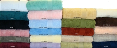 Espalma has combined the latest technology using zero twist yarns and 100% combed cotton to produce this high quality towel. The zero twist yarns wick moisture away. These luxurious over-sized towels are available in 22 colors