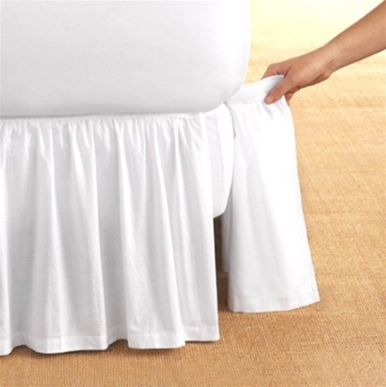 never remove your mattress to launder your bedskirt ever again gathered detachable cotton bed ruffle