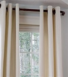 The Barricade Adjustable Curtain Rod has a wrap-around design that helps block side drafts. This unique curtain rod allows insulated curtains to wrap around to the wall, blocking side light and drafts, helping to save energy and provide more privacy.