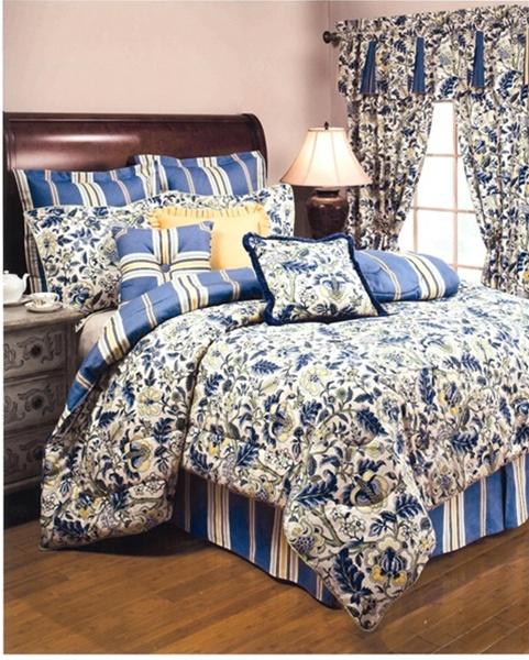 Luxurious Floral Print Yellow Blue Green Cream Woven
