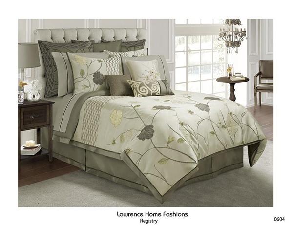Registry By Lawrence Home Luxurious, Moss Green Velvet Bedding