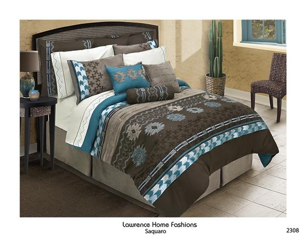 Saquaro Chocolate Brown Comforter Set Southwest Design