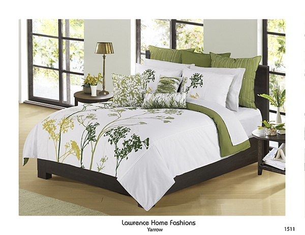 Yarrow By Lawrence Luxurious Green Foliage Print And