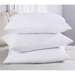 Its almost like sleeping on down, Our Almost Natural Pillow is made with a new polyester fiber that has a down-like feel