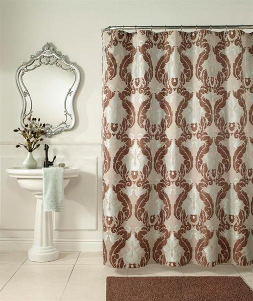 Baroque Shower Curtain Formal Design Luxurious Woven