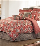 Durelme - Brighten up your room with this vibrant and beautiful floral ensemble from Rose Tree. This traditional floral in shades of brown, mocha, blue, green, and maize on a rich red ground.