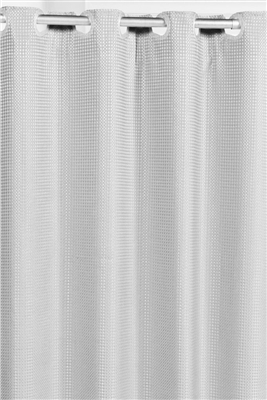 "Carnation Home Fashions Pre Hookedâ""¢ Waffle Weave Shower Curtain