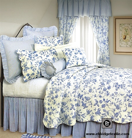 Brighton Toile Elegant Williamsburg Design Quilt 100