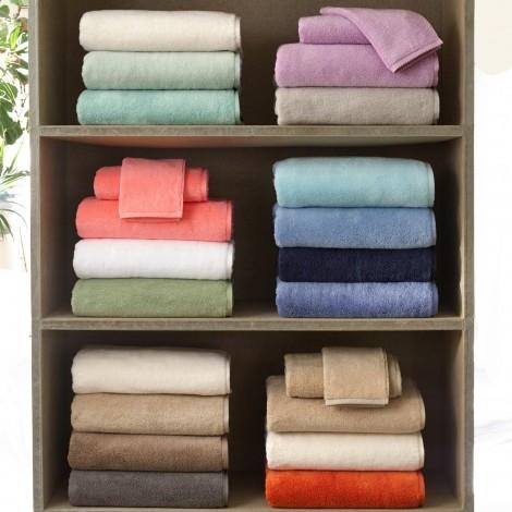 "Matouk Milagro Long Staple Cotton Portugal Luxury 12/""x12/"" Face Towel Powder Blue"