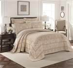 The Williamsburg Basset Matelasse collection of bedspreads and coverlets creates a timeless, elegant and inviting look with a lovely intricate pattern and soft, soothing hues. It features medallion designs which are one of the most versatile motifs