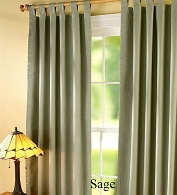 Save money on heating and cooling costs with our Tab Top Insulated Curtains. In the winter, keep out drafts. In the summer, keep out heat. Helps to filter out light and reduce outside noise. Complete your window treatment with
