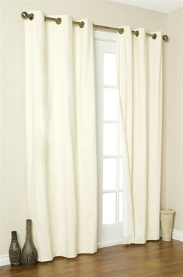 Save money on heating and cooling costs with our grommet top Insulated Curtains. In the winter, keep out drafts. In the summer, keep out heat. Helps to filter out light and reduce outside noise. Complete your window treatment with