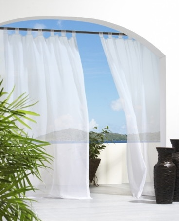 Outdoor Sheer Curtain Panels Are Machine Washable Water