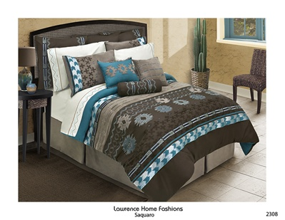 Saquaro Chocolate Brown Comforter Set Southwest Design