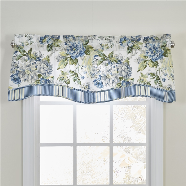 Luxurious Ornate Floral Green Blue Ivory Reversible