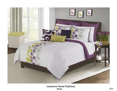 Khloe By Lawrence Luxurious Mustard Plum Contemporary