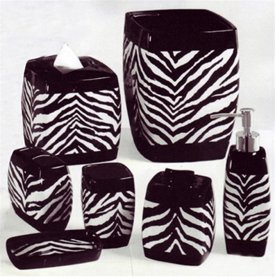 Black And White Zebra Shower Curtain Bath Accessoriesmachine
