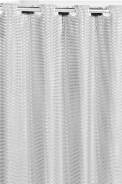 white and silver shower curtain. Carnation Home Fashions Pre Hooked  Waffle Weave Shower Curtain waffle Hookless weave shower curtain